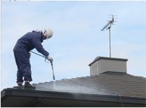 屋根塗装 洗浄