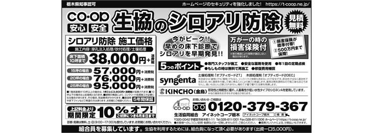 2017年6月朝日新聞シロアリ予防・駆除