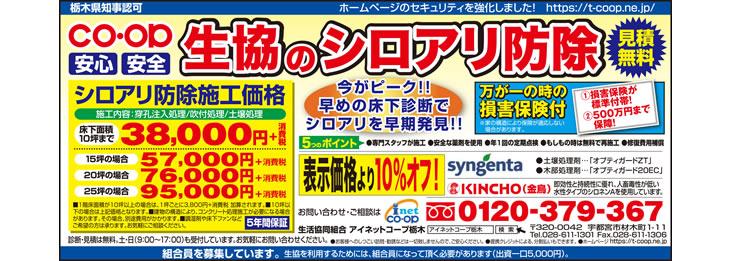 2017年7月とちぎ朝日新聞 シロアリ(白蟻)予防・駆除