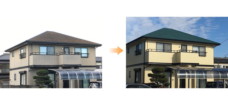 外壁塗装・屋根塗装 施工事例(栃木市)
